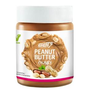 GOT7 Nutrition Peanut Butter chunky zuckerfreie Erdnussbutter mit Erdnussstücken 500 g online kaufen. GOT7 Nutrition Erdnussbutter kaufen online.
