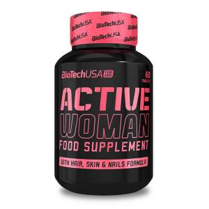 BioTech USA ACTIVE WOMAN Nahrungsergänzung für Frauen 60 Kapseln. 13 Vitamine, 12 Mineralien, 15 antioxidative Wirkstoffe, uvm. BioTech USA ACTIVE WOMAN