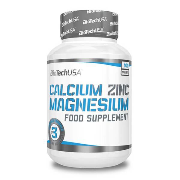 BioTech USA Calcium-Magnesium-Zinc Nahrungsergänzung 100 Tabletten kaufen. 1000 mg Calcium pro Portion mit Zink, Magnesium, Kupfer und Bor kaufen!