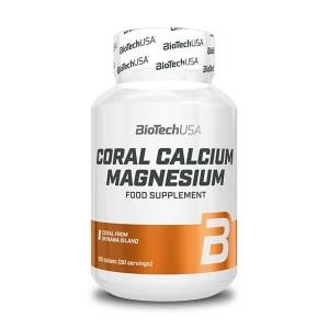 BioTech USA Coral Calcium Magnesium Nahrungsergänzung kaufen. Kalzium & Magnesium Tabletten, 600 mg Calcium, 300 mg Magnesium aus Okinawa-Koralle!