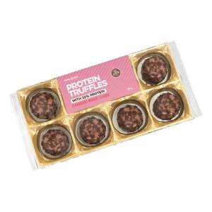 """Body Attack Protein Low Carb Truffles Trüffelpralinen """"Erdbeer-Joghurt"""" 80 g. Nur 1 g Zucker pro Portion, 30g Eiweiß. Packung Body Attack Truffles kaufen"""