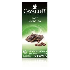 Cavalier Stevia Schokoladentafel DARK MOCHA Zartbitter Mokka 85 g. Herzhafte Edelschokolade mit Stevia und Erythrit gesüßt.
