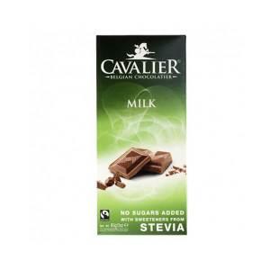 Cavalier Stevia Schokoladentafel MILK Milch 85 g. Edle Schokoladentafel aus Milchschokolade mit Erythrit und Stevia gesüßt.