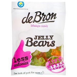 De Bron Jelly Bears Gummibärchen 90 g. Köstliche Low Carb Süßigkeiten mit nur 0,2 Gramm Zucker auf 100 Gramm Gummibärchen.