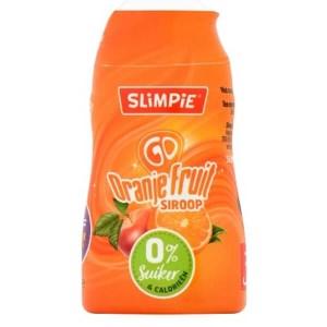 """Slimpie zuckerfreier Limonaden-Sirup TO GO """" Orange-Himbeer """" Squeezeflasche 48 ml. Zuckerfreier Sirup für 30 Portionen oder Gläser Fruchtlimonade."""