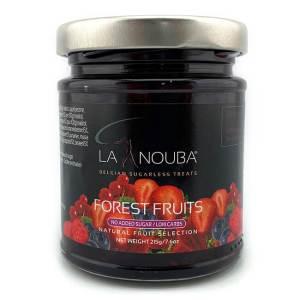 La Nouba Natural Fruit Selection Premium Fruchtaufstrich ohne Zuckerzusatz 215 g Waldfrucht. Erlesene Früchte verarbeitet in einem Fruchtaufstrich.
