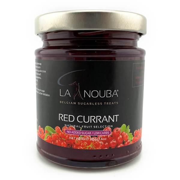 La Nouba Natural Fruit Selection Premium Fruchtaufstrich ohne Zuckerzusatz 215 g rote Johannisbeere. Erlesene Früchte verarbeitet in einem Fruchtaufstrich.