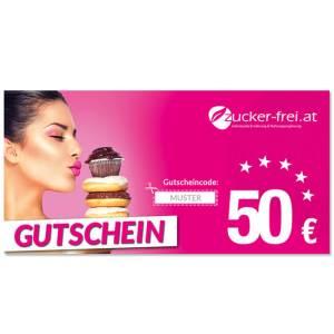 10 Euro Wertgutschein für www.zucker-frei.at ➤ Lebensmittel zuckerfrei - Low Carb Produkte - LCHF Produkte / Diabetiker lieben unseren Zucker-frei Shop