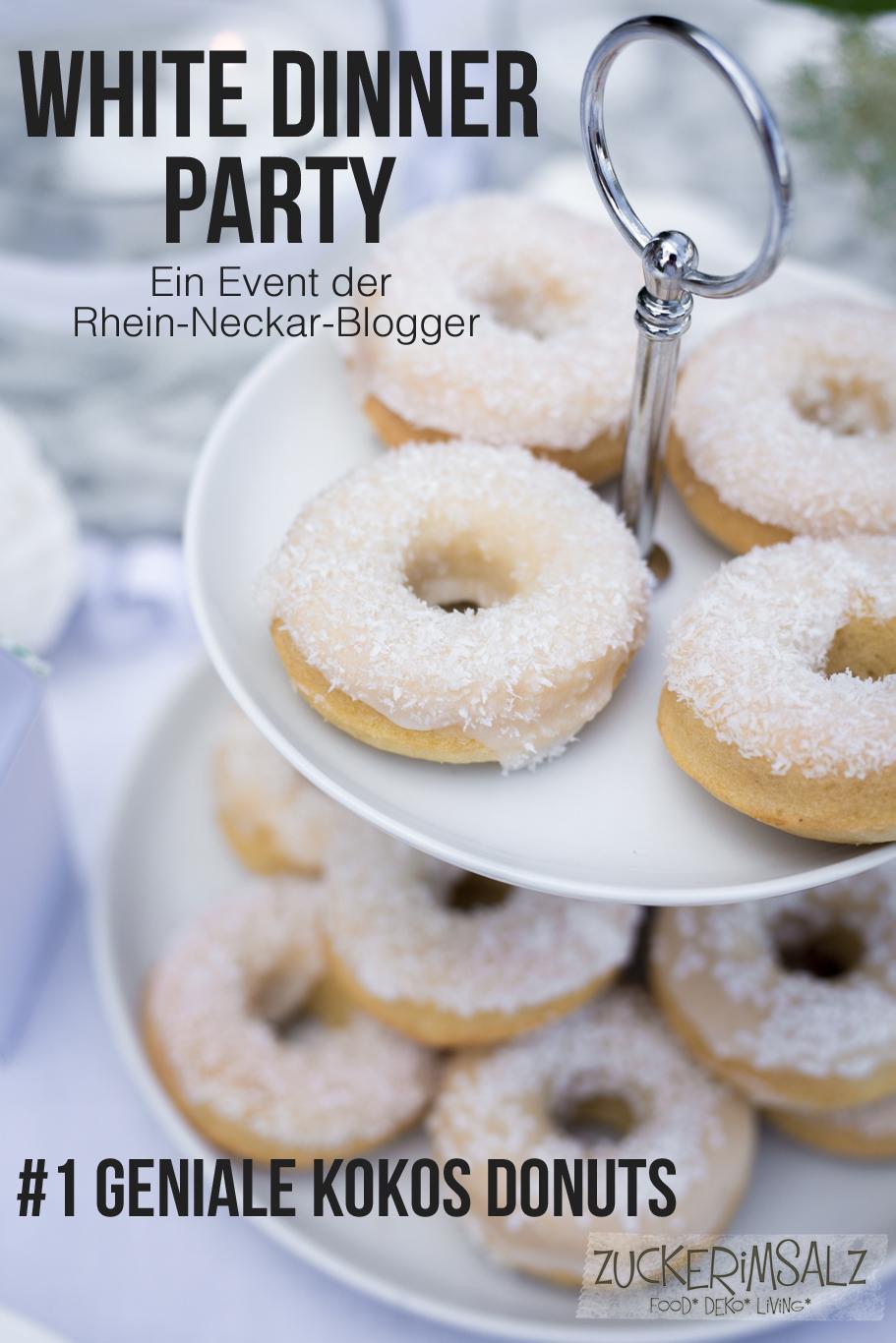 #1 Geniale Kokos Donuts … das White Dinner Event der Rhein Neckar Blogger