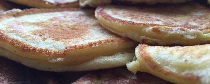 Quarkküchlein mit Portweinkirschen - Pfannkuchen