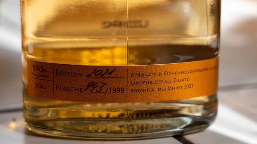 Berlin Aged Gin 2021 Etikett