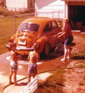 My mother's original 74 Super Beetle