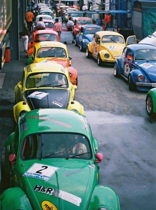 Multiple VW 1303 Super Beetles