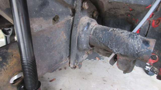 1979 VW Beetle - Passenger Side Spring plate torsion bar section