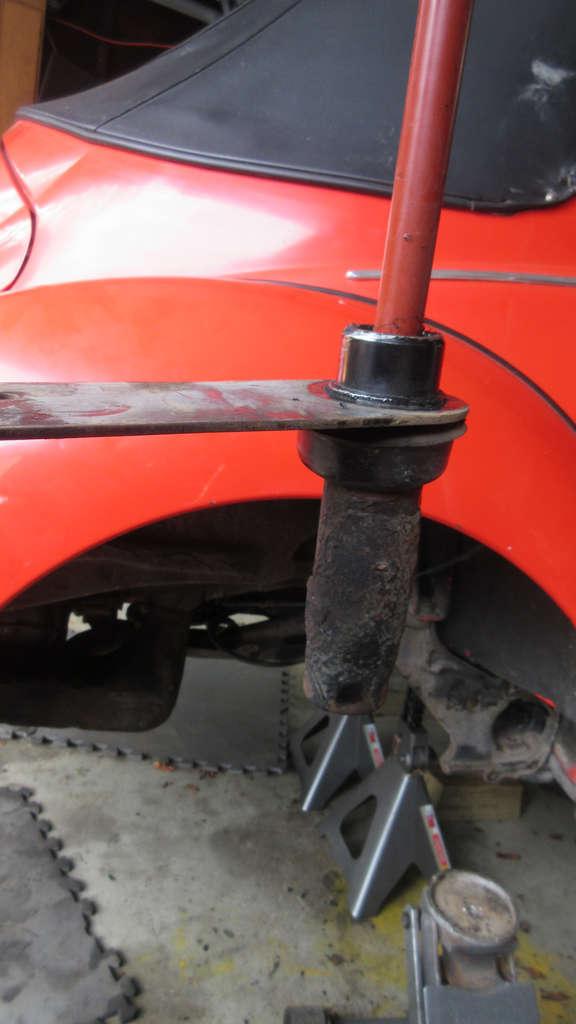 1979 VW Beetle - Passenger Side Spring Plate and Torsion Bar