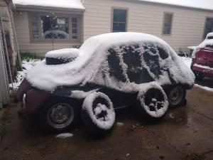 Unexpected spring snow
