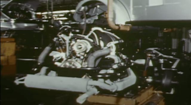 VW Factory Emden, Germany (1974-1978) Type 1 US FI engine install