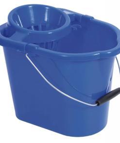 1650blueplasticmopbucketwithringer12litre9hm1 - Mop Bucket