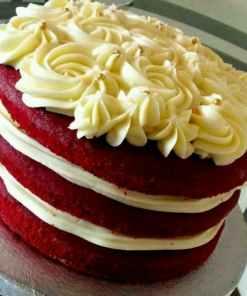 IMG 20181008 WA00101 - Red Velvet  Cake-Layered With Fresh Cream in Between The layers
