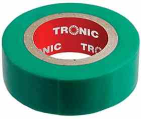41DAAA2ZQLL. AC SY400  1 - Insulating Tape Green 20yards Tronic IT 01GR-20