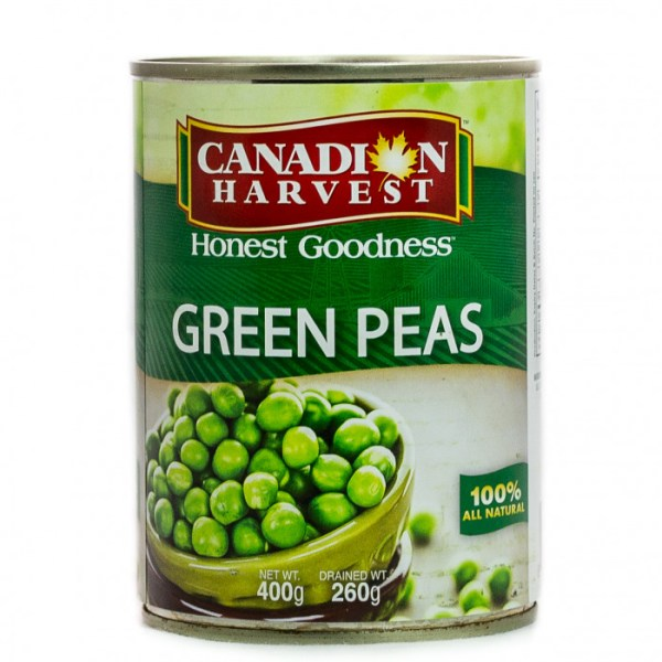 4c9185e4918dfc36ed4557a6878bcfb1 1 - Canadian Harvest Green Peas 400g
