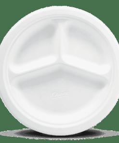 Disposable Plastic partition Plates - 21cm Disposable Plastic Partition Plates