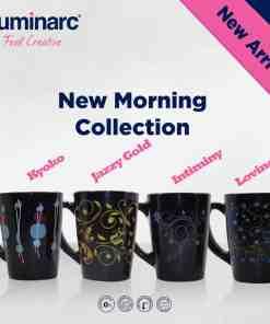 New Morning Mug 32cl Black 1 - Luminarc New Morning Mug 32cl Black Kyoko R6 - 6pcs