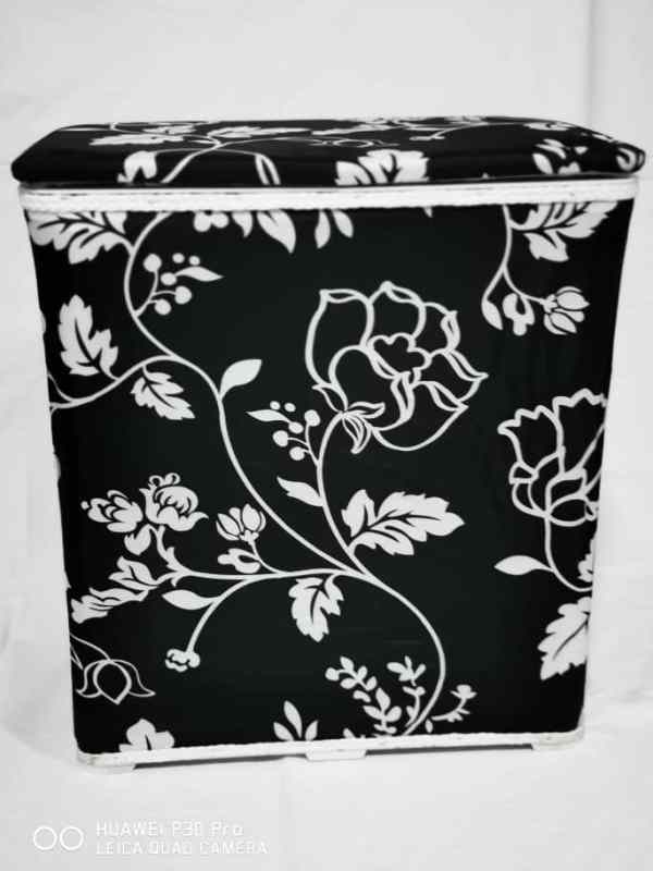 WhatsApp Image 2020 06 03 at 7.43.22 PM 1 - Laundry Hamper Black&White Color