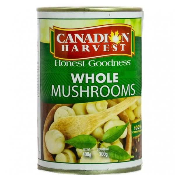 f3589ec13154054eaac26e3b891c1218 - Canadian Harvest Whole Mushrooms 400g