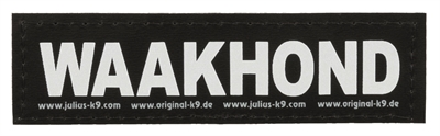 Julius k9 labels voor power-harnas/tuig waakhond