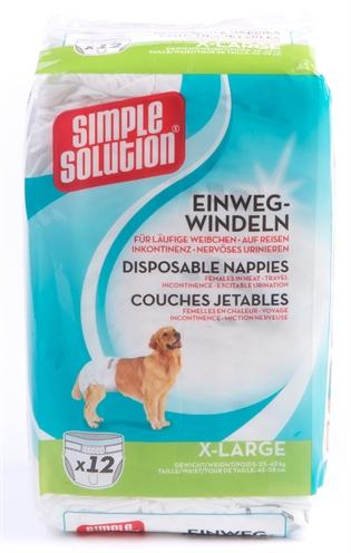 Simple solution wegwerp honden luier