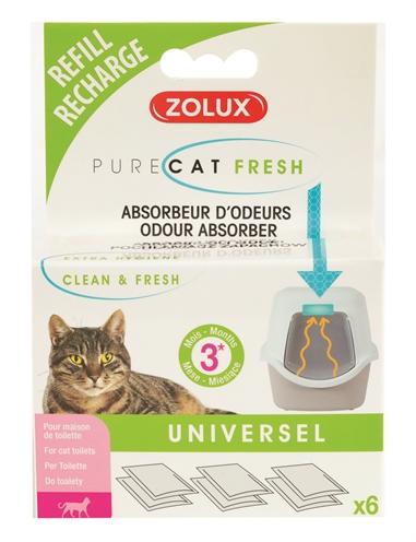Zolux clean & fresh universeel filter kattenbak