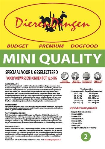 Budget premium dogfood adult mini quality