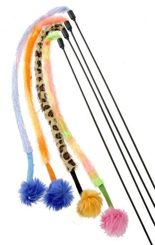 Kattenspeelgoed hengel/furry tail/pluche bal