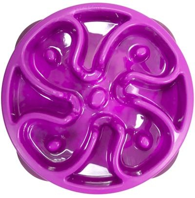 Voerbak slo-bowl mini bloem paars