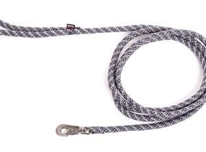 Looplijn longe nylon reflecterend grijs