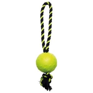 Happy pet tough toys ball tugger geel