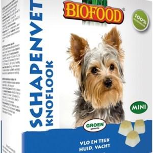 Biofood schapenvet mini bonbons knoflook