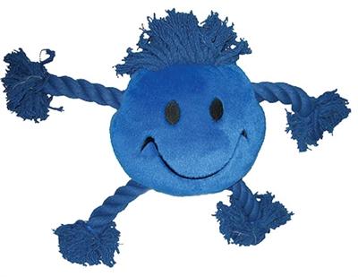 Happy pet happy faces pluche smiley blauw