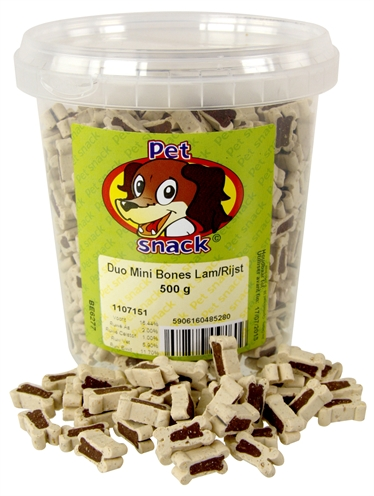 Petsnack botjes mini duo lam/rijst
