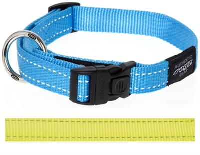 Rogz for dogs lumberjack halsband geel