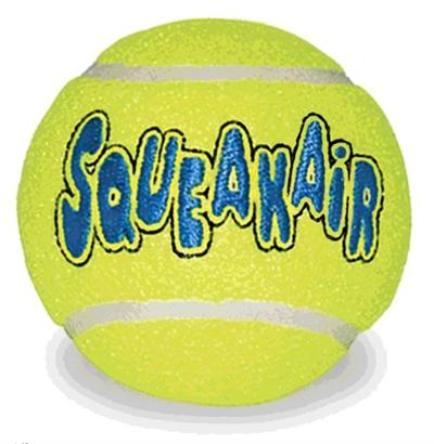 Kong squeakair tennisbal geel met piep