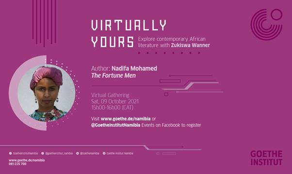 October 9: Virtually Yours with Nadifa Mohamed