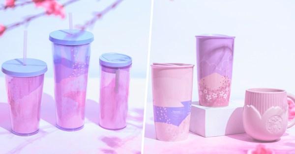 New Starbucks Sakura Blossoms Collection Is Pretty In Pastel Pink & Purple