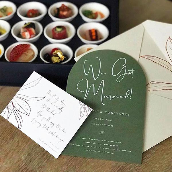 Papypress wedding announcement packages tim's fine catering