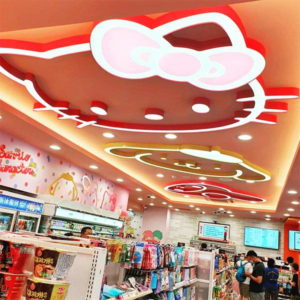 sanrio-7-eleven-sub-store-ceiling