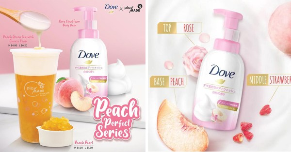 Playmade & Dove Are Not Playing With Their New Collab, Includes Peach Foam BBT & A Foam Body Wash
