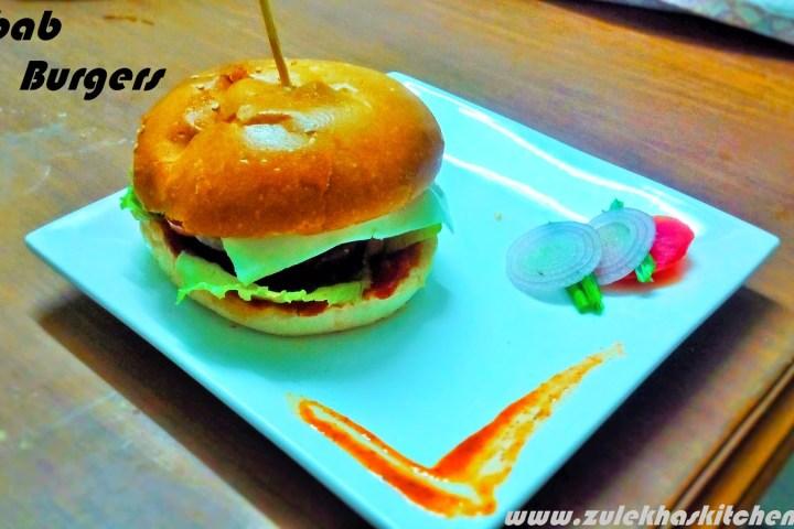 Shami Kabab Burger recipe