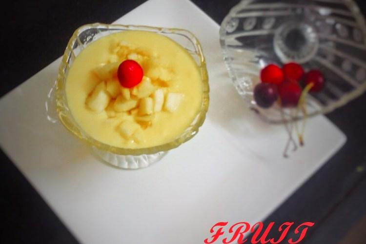 Fruit Custard recipe | how to make fruit custard