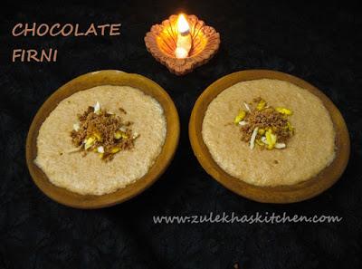 Chocolate Firni Recipe / Phirni